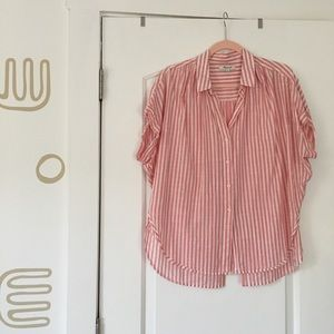 Pink Striped Madewell Buttondown